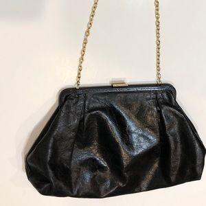 HOBO Vintage Leather Black Purse w/ Chain Strap